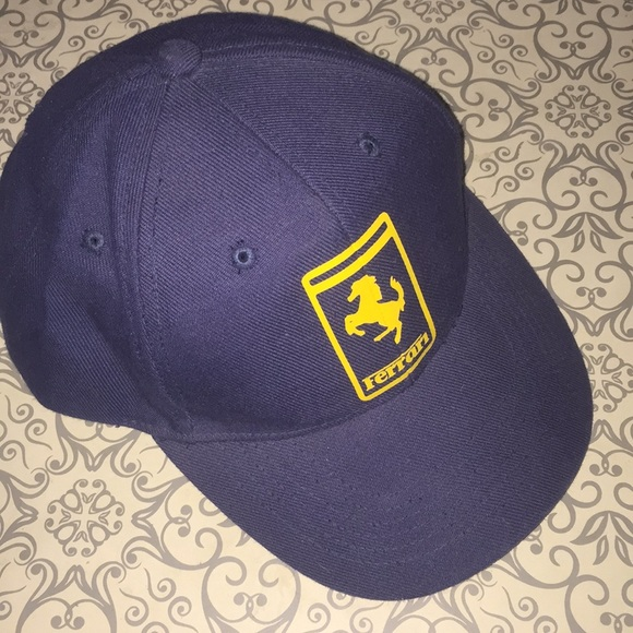 Other - Ferrari blue/ gold hat